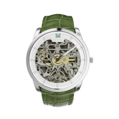 1Beauvoir-Silver-Croco-Green