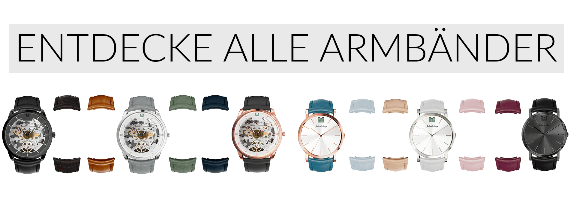 Armbänder, straps, leather straps, Bänder, Automatikuhr, automatic, mechanical watch, mechanische Uhr, Herrenuhr, men